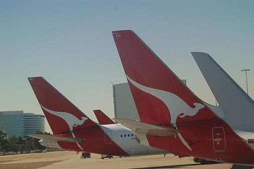 Airplanes in Australian airport