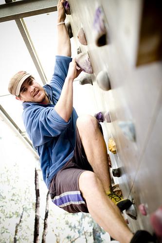 la trobe student rock climbing
