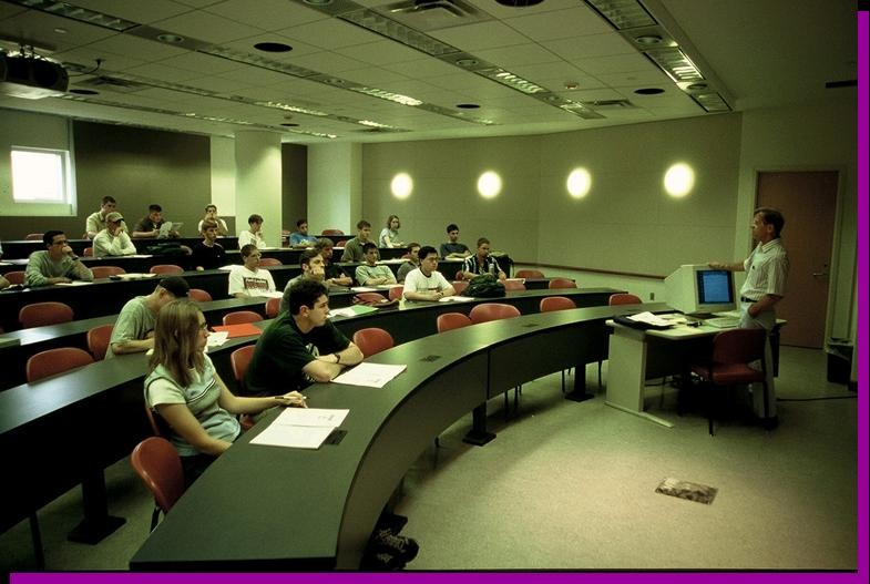 MBA students sitting in the classroom
