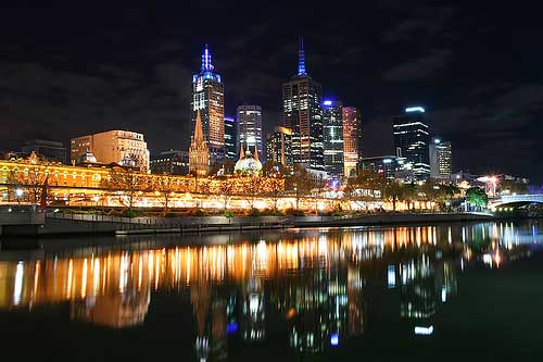 City Lights in Melbourne Australia