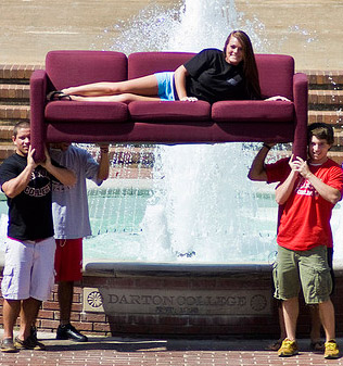 New Students Having Some Fun On Campus